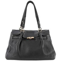 Salvatore Ferragamo Fara Satchel Leather Large