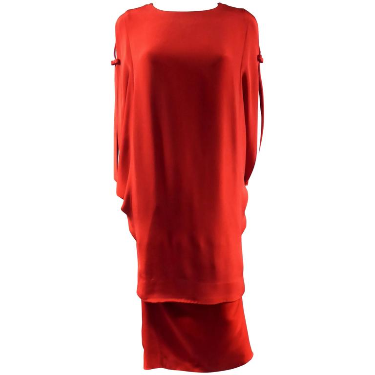 Pierre Cardin Batwing Sleeves Dress
