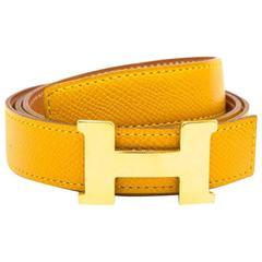Hermès Ochre Constance H 28mm Belt