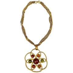 Yves Saint Laurent By Roger Scemama Pendant Couture Iconic Necklace