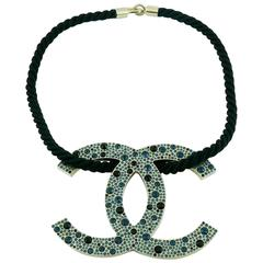 Chanel Rare Jewelled Jumbo CC Logo Necklace Spring Summer 2008