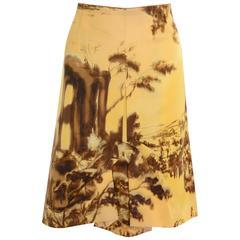 PRADA Landscape Print Skirt
