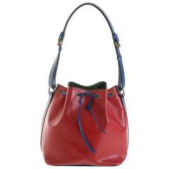 """LOUIS VUITTON """"Grand Noé Epi Tri-Color"""" Leather Shoulder Bag"""