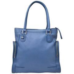Delvaux Blue Tote Bag