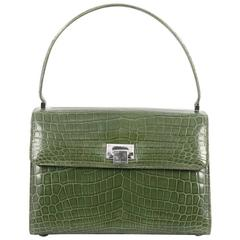 Tiffany & Co. Maddie Lunchbox Bag Crocodile Small