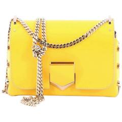 Jimmy Choo Lockett Chain Shoulder Bag Leather Petite