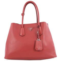 Prada Cuir Double Tote City Calfskin Medium