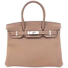 Hermes Etoupe 30cm Birkin Bag