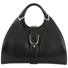 Gucci Stirrup Top Handle Bag Leather Large