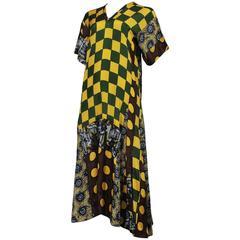 Comme des Garcons Unfinished Check Dress 1992