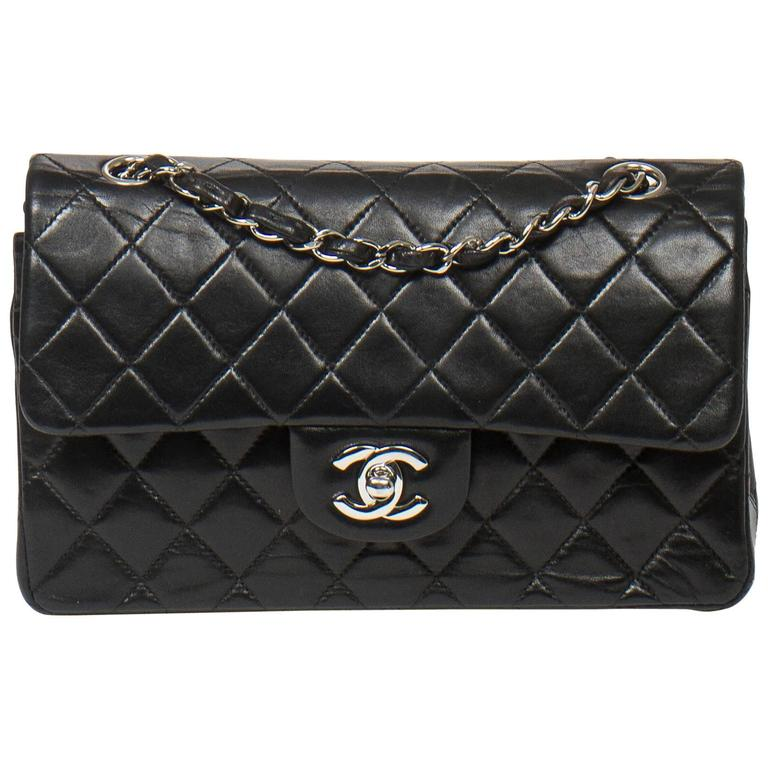 Chanel Classic Double Flap 23 Black Quilted Leather 1