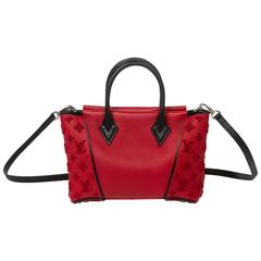 Louis Vuitton W Tote BB Red Cashmire Leather