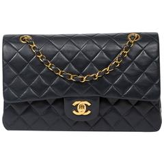 Chanel Classic Double Flap 26cm Navy Leather