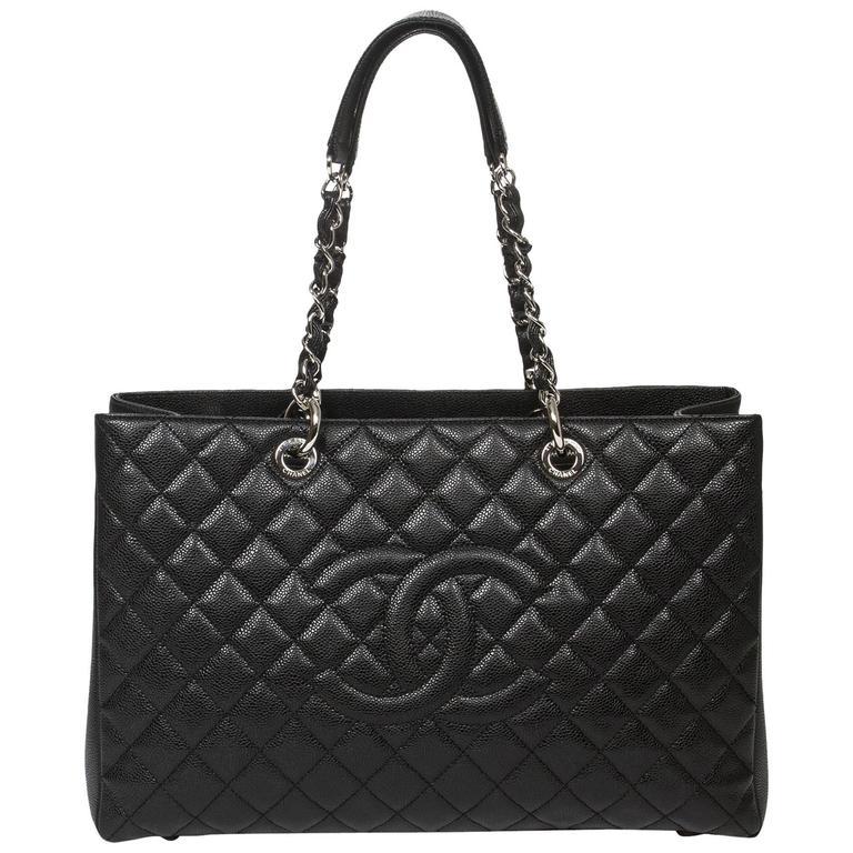 Chanel Grand Shopping Tote GM Black Caviar 1