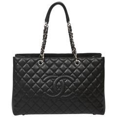 Chanel Grand Shopping Tote GM Black Caviar