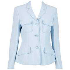 1990s Moschino  Cheap and Chic light blue blazer
