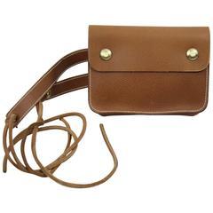 Hermes 1974 Gold Grained Leather Beltbag.
