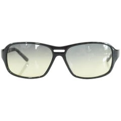 Prada Black Framed Sunglasses with Yellow Tinted Lenses