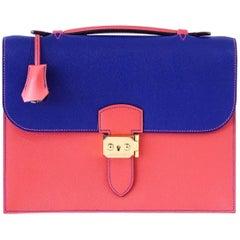 Hermes Sac A Depeche 27 Bag HSS Limited Edition Electric Blue/Rose Jaipur Epsom