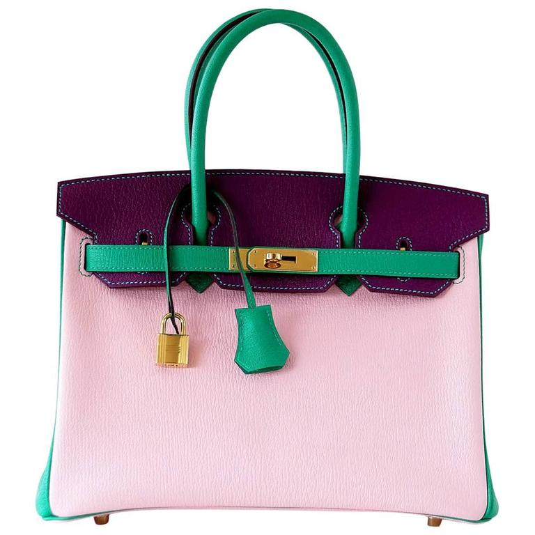 c00545493d0d ... germany hermes tricolor rose sakura anemone bamboo chevre gold birkin  30 bag for sale 38d99 d95ac