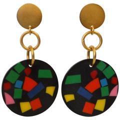 1980s Martha Sturdy Confetti Earrings