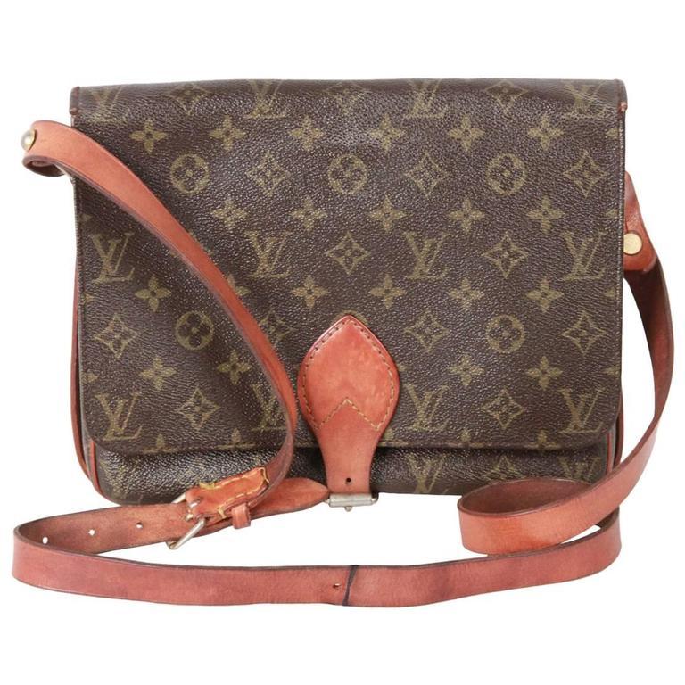 59fd454c422d LOuis Vuitton Vintage Monogram Canvas Cartouchiere Messenger Bag For ...
