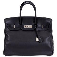 Hermès 35cm Black Vache Birkin Bag