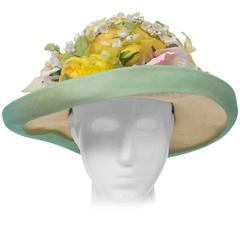 Dior Straw Hat with Flowers