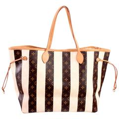 Louis Vuitton Rayures Neverfull Tote Bag GM Limited Edition + Dust Cover 2011