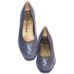 Yves Saint Laurent Blue Espadrilles