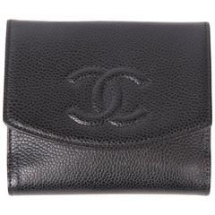 Chanel Caviar Leather CC Billfold Wallet - black