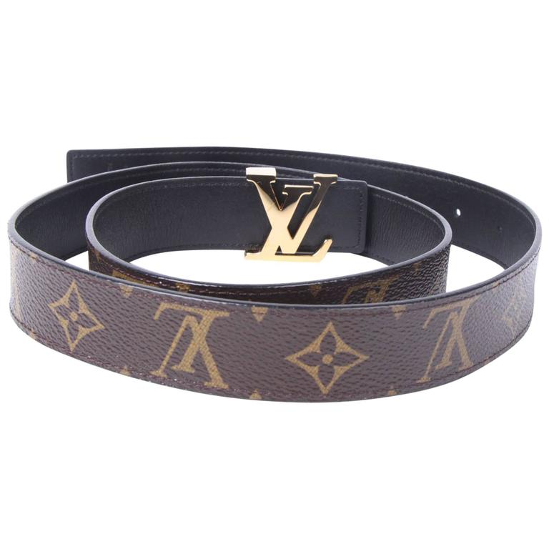 29920674544e Louis Vuitton Monogram Reversible Belt - brown black at 1stdibs