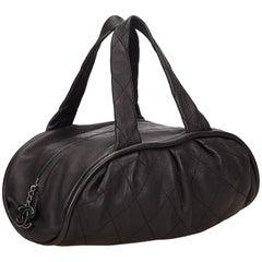 Chanel Black Leather Le Marais Bowler Bag