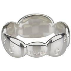 Chanel Silver Pebble Ring