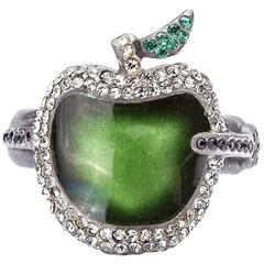 Undercover Green Apple and Arrow Ring