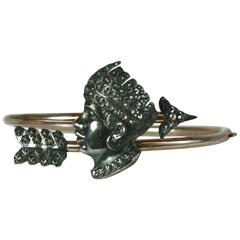 Unusual Victorian Bangle with Blackamoor Figure