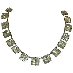 Art Deco Crystal Paste Riviere Necklace