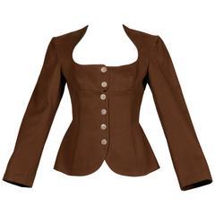 Alaia Vintage Brown Jacket