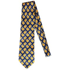 Gucci Yellow Diamond Printed Tie