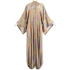 Issey Miyake Autumn-Winter 1976 silk harem jumpsuit with Tadanori Yokoo print