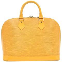 Louis Vuitton Alma Yellow Epi Leather Hand Bag