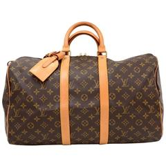 Louis Vuitton Keepall 45 Monogram Canvas Duffle Travel Bag