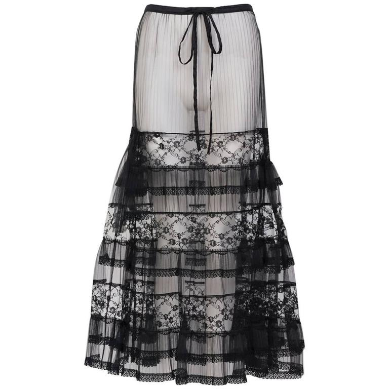 Sheer Lace Skirt