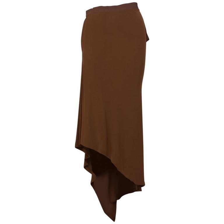 GAULTIER  FEMME Draped Crepe Skirt