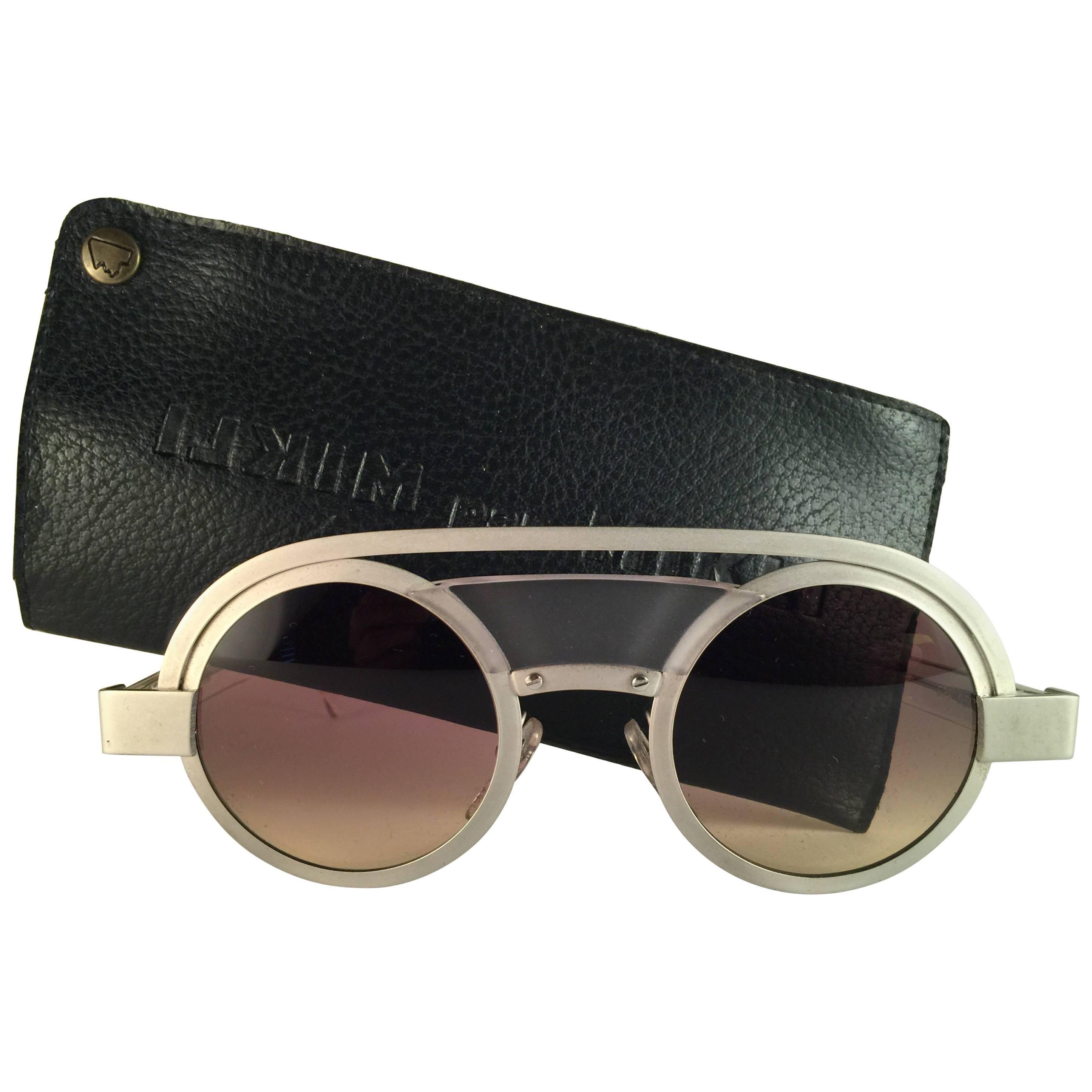 efe1a180de86 New Vintage Rare Alain Mikli 639 Round Aluminium France Sunglasses 1980 at  1stdibs