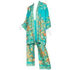 Beautiful 1960s Chinese Silk Pjamas and Kimono
