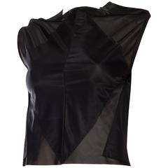 Martin Margiela Geometric Sheer Top