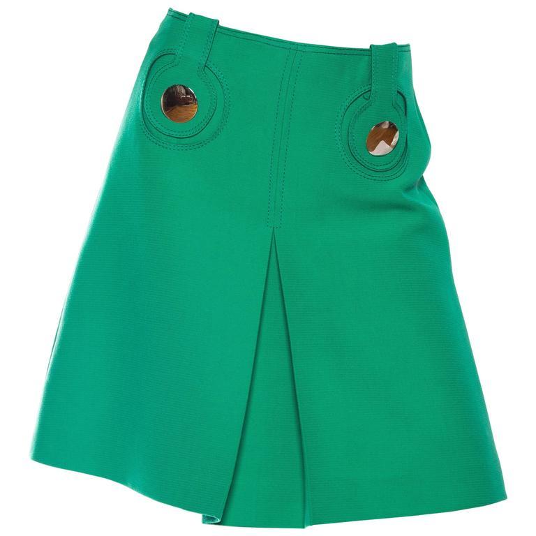 1960s Mod Space Age Pierre Cardin Mini Skirt