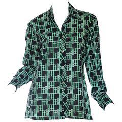 Pierre Cardin Geometric Mod Printed Shirt