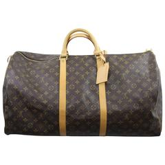 Louis Vuitton Keepall 60 TYravel bag in monogram canvas